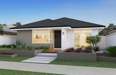 The Insight 12m frontage home design by Smart Homes for Living.