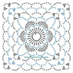 Square Motif Design Crochet Chart Pattern created using the HookinCrochet Crochet Symbols Font SoftwarePosts about Crochet Supplies written by shajmc Grannies Crochet, Crochet Squares Afghan, Granny Square Crochet Pattern, Crochet Diagram, Crochet Chart, Crochet Motif, Crochet Designs, Crochet Patterns, Crochet Wool