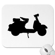 mousepad Scooter Store, Piaggio Vespa, Motorcycle Logo, Commute To Work, Mode Of Transport, Motorbikes, Bicycle, Silhouette, Cartoon