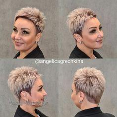 Short White Hair, Super Short Hair, Short Hair Cuts, Pixie Styles, Short Hair Styles, Queer Hair, Short Spiky Hairstyles, Half Shaved Hair, Extreme Hair