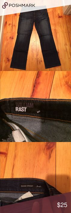 William Rast relaxed straight 34x32 jeans Great condition Barely worn Button fly True to size Jeans Relaxed