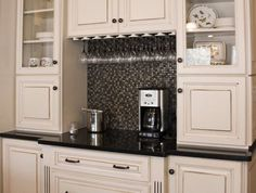 Beverage station provides options, from Mauk Cabinets by Design