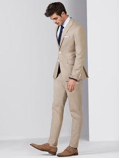 men coat pant 3 piece suits for beach mens tuxedo classic suit for wedding formal wear 2017 Mens Fashion Blog, Fashion Moda, Suit Fashion, Groom Fashion, Fashion Boots, Sharp Dressed Man, Well Dressed Men, Terno Slim, Beige Suits