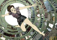 Julie Keupen, Kaninchenbau, Tusche, Macrofotografie, A2, 2009, 490 €