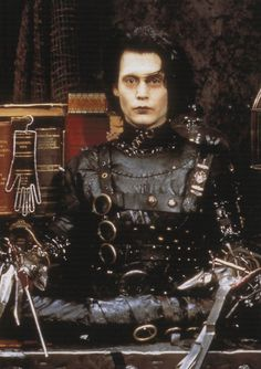 my name is Fuckface. and this is Clonetown. Johnny And Winona, Young Johnny Depp, Johnny Depp Movies, Scissors Hand, Tim Burton Beetlejuice, Tim Burton Art, Vintage Goth, Edward Scissorhands, Sweeney Todd
