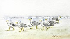 Beach Artwork - Seagulls on the Beach | Flickr – Condivisione di foto!