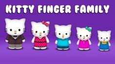 The Finger Family Kitty Family Nursery Rhyme | Kitty Finger Family Songs
