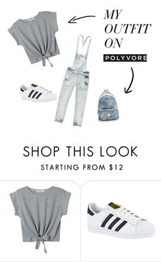 """""""Amélie tenue"""" by princesse-c ❤ liked on Polyvore featuring WithChic and adidas"""