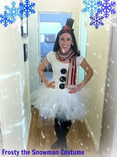 Frosty the Snowman Costume. Learn how to make your very own (even the tutu).