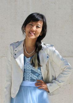 Blue tulle dress #tulledress