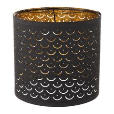 IKEA NYMÖ Lamp shade Black/brass-colour 24 cm Create your own personalised pendant or floor lamp by combining the lamp shade with your choice of cord set...