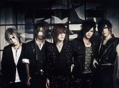 the GazettE. From left to right, Aoi (guitar), Reita (bass), Ruki (vocals), Kai (drums), and Uruha (guitar). Their music is absolutely amazing. I would say that they are currently my favorite band.