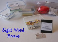 Sight Word Boxes... For School Or Home