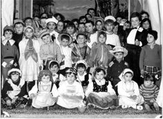 Italian Vintage Photographs ~ #Italy #Italian #vintage #photographs  ~ City of Roccacasale: Recitation school (1966)