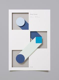 A creative poster series developed by studio Moniker for the Designer Fund – Bridge speaker series. Moniker is a graphic design and branding studio based Web Design, Book Design, Cover Design, Layout Design, Design Art, Print Design, Gig Poster, Blue Poster, San Francisco Design