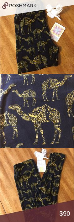 🦄True Unicorn Gorgeous camels on pure black OS 🦄Beautiful golden yellow mosaic print camels on pure black OS leggings. These are a true unicorn and I paid way over retail so please no pricing comments or you will be blocked. Reasonable offers accepted LuLaRoe Pants Leggings