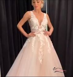 2020 Pink Long Ball Gown with White Lace #promdresses #2020promdresses #ballgown