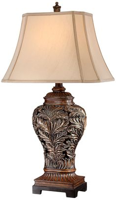 Bronze Openwork Vase Table Lamp From Barnes And Ivy Gallery