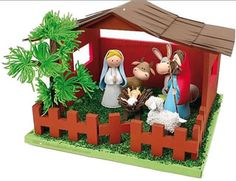 Manualidades para ganar dinero: Pesebre Fofucho. Nacimiento del niño Jesús. Navidad