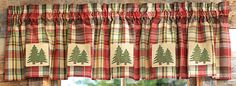 Pine Tree Lined Valance - CLEARANCE