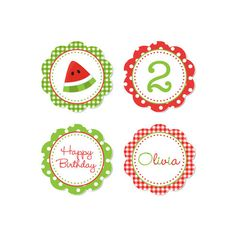 PRINTABLE Summer or Watermelon Party Circles by DaysignsbyDay