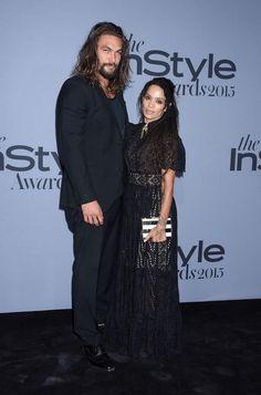 Jason Momoa with his beautiful wife, Lisa Bonet