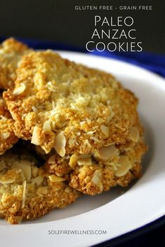 Paleo Anzac Biscuits (Grain Free, Gluten Free, Refined Sugar Free) A grain-free take on the Australian classic!