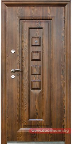 Блиндирана входна врата - Код 802-7 Home Door Design, Pooja Room Door Design, Bedroom Door Design, Door Design Interior, Wooden Front Door Design, Double Door Design, Wooden Front Doors, Modern Wooden Doors, Main Gate