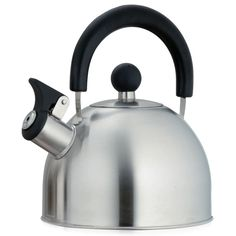 International Creative Home Simplicity 1.5-quart Whistling Brushed Stainless Steel Tea Kettle (Stainless Steel), Silver (Metal)
