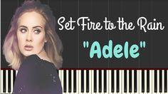 Adele – Set Fire to the Rain (Easy Piano Lyrics) | Synthesia Music Lesson