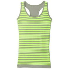 Athleta Neon Stripe Racerback Tank - Highlighter yellow/grey stripe from Athleta on Catalog Spree, my personal digital mall.