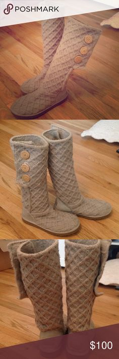 Tan Ugg Lattice Cardy Size7 Size 7 Cream/Tan lattice Cardy ugg boots. Good condition. UGG Shoes