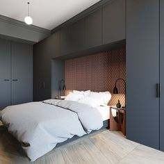 Great Modern Bedroom Design that Will Inspire You Modern bedroom design should be planned well. Here are some best design ideas for your modern style bedroom. Bedroom Closet Storage, Wardrobe Design Bedroom, Bedroom Bed Design, Modern Bedroom Decor, Contemporary Bedroom, Home Bedroom, Master Bedroom, Small Modern Bedroom, Modern Decor
