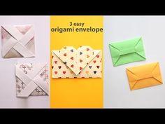 3 origami envelopes