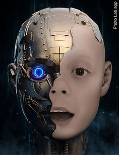 Turning yourself into a robot easier said than done? Prove this statement wrong with our online robot face effect. Upload a portrait photo and see for yourself! Cyberpunk Character, Cyberpunk Art, Robot Makeup, Robots Drawing, Creation Photo, Robot Girl, Face Illustration, Ex Machina, Photo Effects