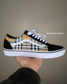 Customised Vans, Custom Vans Shoes, Mens Vans Shoes, Vans Sneakers, Vans Shoes Fashion, Womens Fashion Sneakers, Vans Old Skool Custom, Rainbow Nikes, Aesthetic Shoes