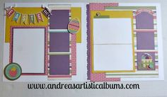 Easter Scrapbook page: Echo Park's Happy Easter Paper Mini Theme Paper collection scrapbook layout.