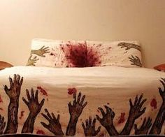 Not sure I would be able to sleep with these Zombie Sheets!