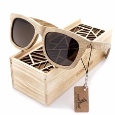 d1186d59bed Sand Brown Wayfarer Bamboo Wood Sunglasses  6 Variants