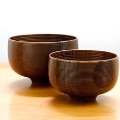 "Lacquered Japanese Zelkoba wood  L: approx. 5.1""D 3.38""H (130mm D 86mm H) S: approx. 4.25""D 3""H (110mm D 75mm H)"
