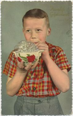 Dutch vintage greeting card from 1959