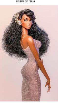 Doll Clothes Barbie, Vintage Barbie Dolls, Beautiful Barbie Dolls, Pretty Dolls, Glamour Dolls, Brown Skin Girls, Black Girl Art, Black Barbie, Barbie Collection