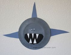 Shark Crafts for Kids 2 - Sweet Rose Studio
