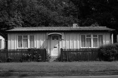 Old prefab grade 11 listed housing Wake Green Road Moseley Birmingham. Built in 1945 to ease the housing shortage.