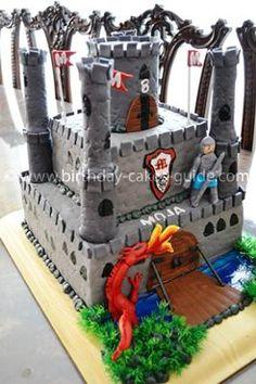 Knights And Dragons Castle Cake cakepins.com