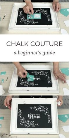 In this beginner's guide to Chalk Couture, you'll learn step-by-step how to make chalkboard wall art for your home using chalk paste! #newtoncustominteriors #chalkcouture #chalkpaint #chalkboard
