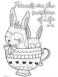 4 Cute Printable Inspirational Quotes Coloring Pages for ...