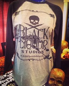 Get your Liquor on! Black Liquor Studios  baseball tee  available now ~ immediate ship   Super soft blend - Heather/black Heather sleeves. $30 +$5.50 shipping.  Comment here with size/email to order.  #blackliquorstudios #whowantsone #logoapparel #skullsoneverything #supportlocalartists #shopsmall  Want FReE shipping?!? Who doesn't?  Share and tag us and we'll pay shipping