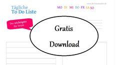 Kostenlose to do Liste zum gratis ausdrucken free printable