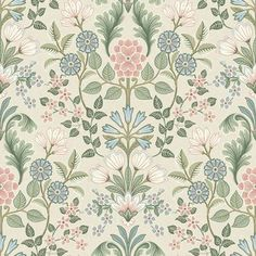 Tapet Classic x m Pastell Medaljong Non-woven – Tap… – Wallpaper Ideas Vintage Floral Wallpapers, Wallpaper Stencil, Fabric Rug, Motif Floral, Japanese Prints, Easy Diy Crafts, Diy Dollhouse, Repeating Patterns, Textile Prints